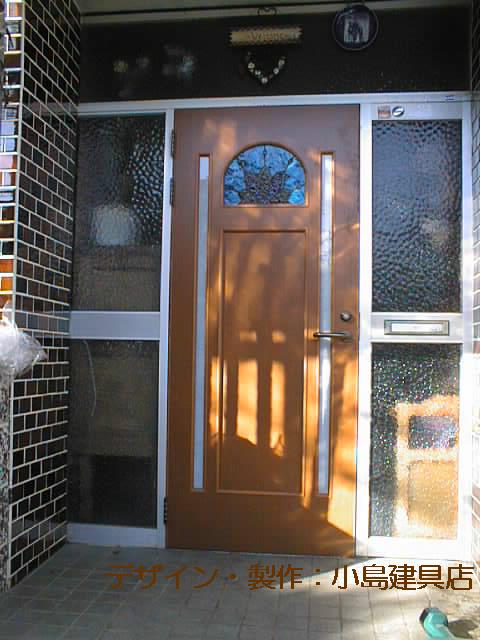 ステンドガラス入り玄関ドア